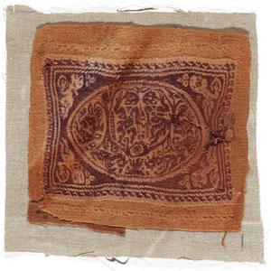 obverse: Tabula Materia e tecnica: lino grezzo tessuto, filo di lana