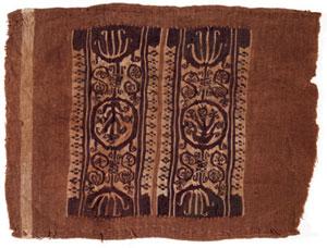 obverse: 219 Grande tabula Materia e tecnica: lino bruno tessuto, fil