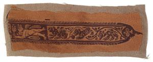 obverse: 220 Clavus Materia e tecnica: lino tessuto in bruno su fondo