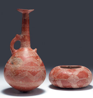 obverse: Due rari vasi ciprioti Materia e tecnica: impasto camoscio,
