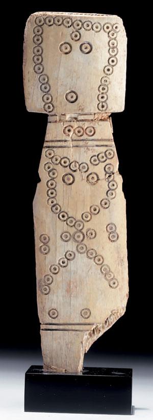obverse: Raro idolo siriano in osso Materia e tecnica: osso intagliat