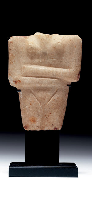 obverse: Statuetta cicladica Materia e tecnica: marmo bianco a grana