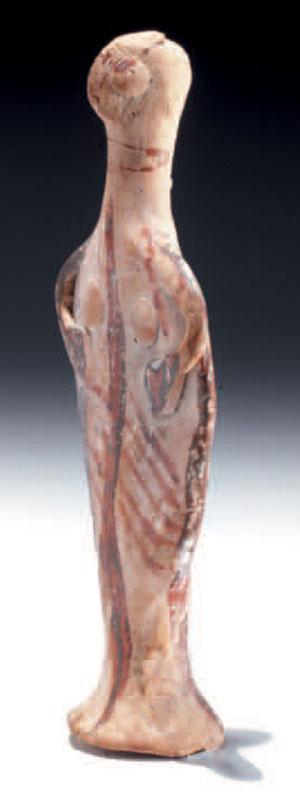 obverse: Statuetta micenea di divinità del tipo a Phi Materia