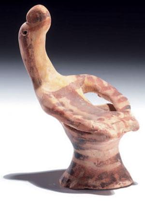 obverse: Statuetta beotica di divinità Materia e tecnica: argi