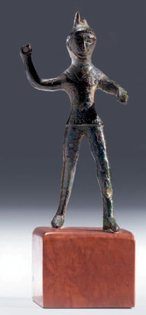 obverse: Statuetta di guerriero in assalto Materia e tecnica: bronzo