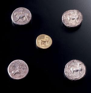 reverse:  Tetradracma Materia e tecnica: argento coniato D/ Testa di