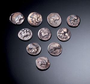 obverse:  Lotto di copie moderne Materia e tecnica: argento coniato D
