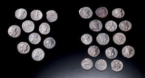 obverse:  Lotto di quinari in argento Materia e tecnica: argento coni