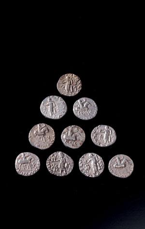 obverse:  Dieci dracme Materia e tecnica: argento coniato Dieci dracm