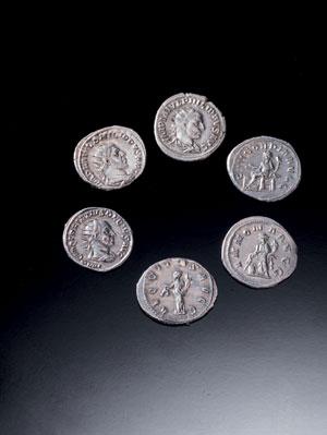 obverse:  Sei denari romani Materia e tecnica: argento coniato Sei de
