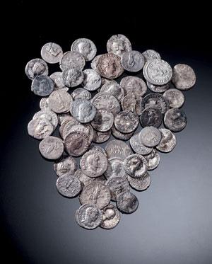 obverse:  Lotto di monete romane Materia e tecnica: argento coniato C