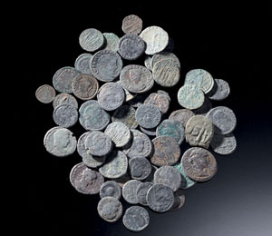 obverse:  Lotto di sessanta monete Materia e tecnica: bronzo coniato