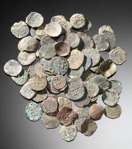 obverse:  Lotto di monete normanne Materia e tecnica: bronzo coniato