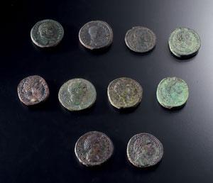 obverse:  Lotto di monete romane Materia e tecnica: bronzo coniato Un