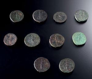 reverse:  Sesterzio Materia e tecnica: bronzo coniato D/ Busto di Fau