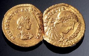 obverse:  Due solidi in oro Materia e tecnica: oro coniato Due solidi