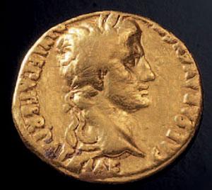 obverse:  Aureo di Augusto Materia e tecnica: oro coniato D/ Busto di
