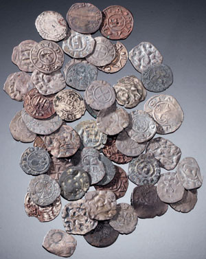 obverse:  Lotto di monete medioevali Materia e tecnica: bronzo coniat