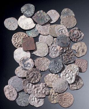 obverse:  Lotto di monete medioevali Materia e tecnica: argento e mis