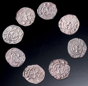 obverse:  Otto denari di Siena Materia e tecnica: argento coniato Ott