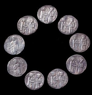 obverse:  Nove grossi matapan di Venezia Materia e tecnica: argento c