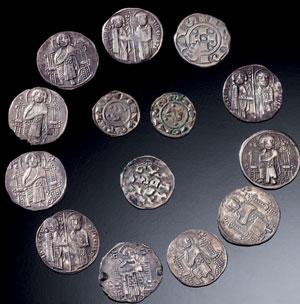 obverse:  Dieci grossi matapan di Venezia ed altre monete Materia e t