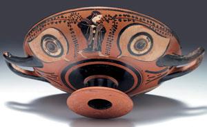obverse:  Kylix attica ad occhioni Tipo A Materia e tecnica: argilla