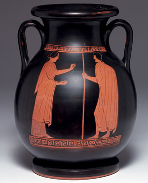 obverse:  Importante pelike attica a figure rosse Materia e tecnica: