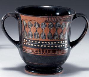 obverse:  Kantharos tipo St. Valentin Materia e tecnica: argilla figu