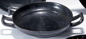 obverse:  Kylix a vernice nera Materia e tecnica: argilla figulina ca