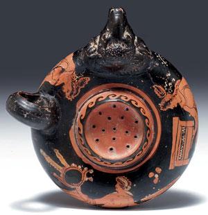 obverse:  Guttus apulo a figure rosse Materia e tecnica: argilla nocc