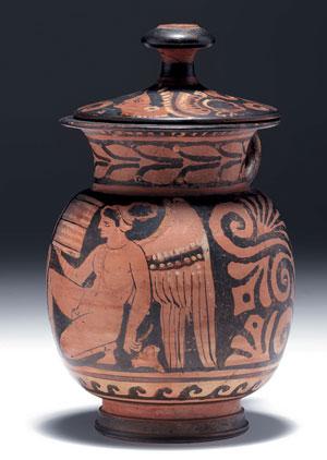 obverse:  481 Grande olpe con coperchio apula a figure rosse Forma 8