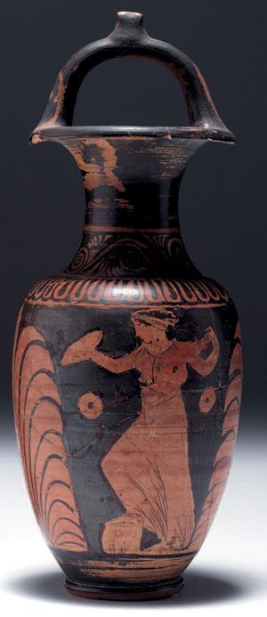 obverse:  Anfora nolana Materia e tecnica: argilla figulina rosata, v