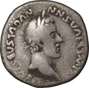 D/ Barbaric Coinage.  AR Denarius.  D/ Bust of Hadrian (?) right, laureate. R/ Modius with corn-ears. For the prototype (Hadrian, 134-138) see RIC 230. AR. g. 3.22  mm. 18.00   Fantasy inscriptions. About VF.