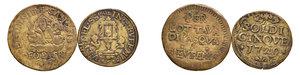 VERONA S. Eufemia. Due tessere in rame: una da soldi 5 1729 (mm. 27), l altra senza anno (probabile sec. XVIII, mm 31). BB.