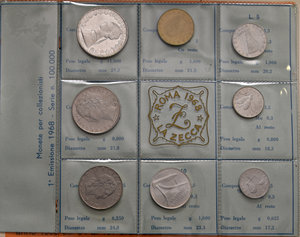 D/ REPUBBLICA ITALIANA.  Serie 1968, 1969 (3) e 1970 (5). In totale, 9 serie.