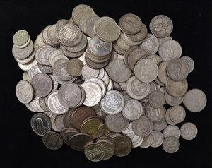SVIZZERA Circa 450 monete in argento: circa 115 da 5 franchi, circa 115 da 2 franchi, oltre 160 da un franco e 58 da mezzo franco.
