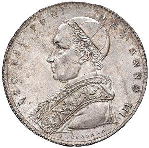 Leone XII (Annibale Sermattei della Genga di Genga, 1823-1829). Scudo romano 1826 anno III AG. Muntoni 6a. Berman 3255. Esemplare dai fondi brillanti e di conservazione eccezionale, FDC
