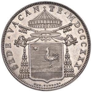 Sede Vacante 30 novembre 1830 - 2 febbraio 1831 (Camerlengo card. Francesco Galeffi).  Bologna. Scudo 1830 AG. Muntoni 4. Berman 3271. Fondi lucenti, SPL