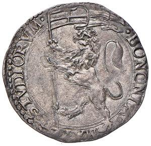 Pio V (Antonio Ghislieri di Bosco Marengo, 1566-1572). Bologna. Bianco AG gr. 4,81. Muntoni 49. Berman 1116. Chimienti 362. Patina di medagliere e incisivo ritratto, SPL