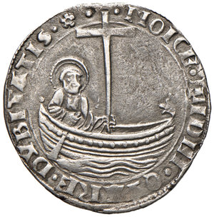 Callisto III (Alfonso de Borja di Xàtiva, 1455-1458). Grosso AG gr. 3,56. Muntoni 8. Berman 350. MIR 351/3. Molto raro. BB