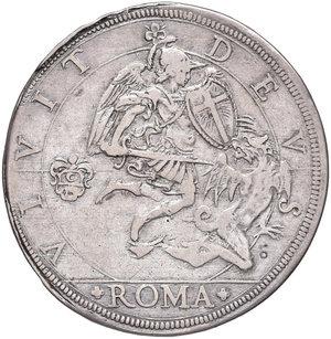 Urbano VIII (Maffeo Barberini di Firenze, 1623-1644). Piastra 1643 anno XX AG gr. 31,85. Muntoni 42. Berman 1713. BB