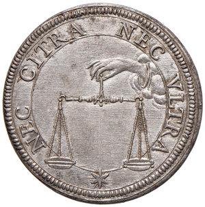 Alessandro VII (Fabio Chigi di Siena, 1655-1667). Testone AG gr. 9,74. Muntoni 9. Berman 1902. Fondi brillanti ed esemplare in stato di conservazione eccezionale, FDC