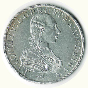 obverse: FIRENZE - Pietro Leopoldo - Francescone 1789