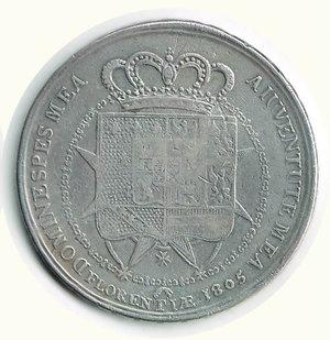 reverse: FIRENZE - Carlo Ludovico - Reggenza - Dena 1805