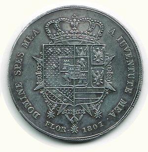 reverse: FIRENZE - Carlo Ludovico - Reggenza - Dena 1807