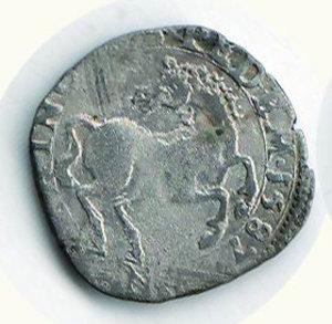 D/ SAVOIA - Carlo Emanuele I (1580-1630) - Cavallotto 1587 - Zecca di Nizza; D/ Scudo coronato; R/ Cavallo rampante, all'esergo, N - Biaggi 552. R - Mist. - q.BB
