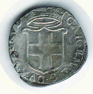 R/ SAVOIA - Carlo Emanuele I (1580-1630) - Cavallotto 1587 - Zecca di Nizza; D/ Scudo coronato; R/ Cavallo rampante, all'esergo, N - Biaggi 552. R - Mist. - q.BB