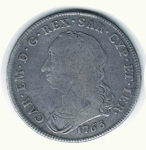 D/ CARLO EMANUELE III Scudo da 6 Lire 1763. R - AR - MB/BB