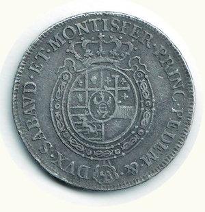 R/ SAVOIA - Carlo Emanuele III - Mezzo Scudo nuovo 1757; D/ Busto a s.; R/ Stemma ovale coronato - MIR 947C. AR - MB